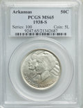 Commemorative Silver, 1938-S 50C Arkansas MS65 PCGS. PCGS Population: (207/95). NGCCensus: (133/48). CDN: $260 Whsle. Bid for problem-free NGC/P...
