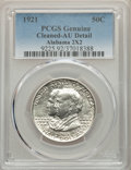 Commemorative Silver, 1921 50C Alabama 2x2 -- Cleaning -- PCGS Genuine. AU Details. NGCCensus: (3/1674). PCGS Population: (26/2290). CDN: $175 W...