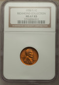 1936-S 1C MS67 Red NGC. EX: Richmond Collection. NGC Census: (130/0). PCGS Population: (77/0). CDN: $550 Whsle. Bid for...