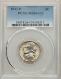 Jefferson Nickels, 1943-P 5C MS66+ Full Steps PCGS. PCGS Population: (693/105 and 25/13+). NGC Census: (328/67 and 2/2+). CDN: $60 Whsle. Bid ...