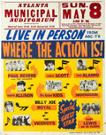 "Music Memorabilia:Posters, ""Where the Action Is!"" Jumbo Multi-Act Cardboard Concert P..."