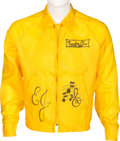 Music Memorabilia:Costumes, Elton John Owned Yellow Zip-Up Jacket. . ...