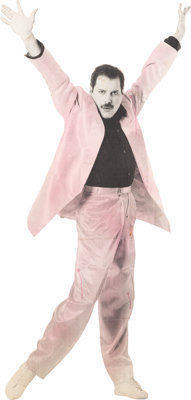 """Freddie Mercury """"The Great Pretender"""" Life-Size Standee Used in Accompanying Music Video (1987)"""