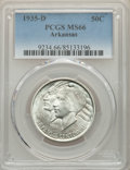 Commemorative Silver, 1935-D 50C Arkansas MS66 PCGS. PCGS Population: (244/50). NGC Census: (115/27). CDN: $225 Whsle. Bid for problem-free NGC/P...
