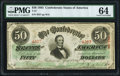 Confederate Notes:1863 Issues, T57 $50 1863 PF-1 Cr. 406 PMG Choice Uncirculated 64.. ...