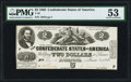 Confederate Notes:1862 Issues, T42 $2 1862 PF-2 Cr. 335 PMG About Uncirculated 53.. ...
