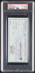 Autographs:Checks, 1989 Ralph Kiner Signed Check, PSA/DNA Authentic....