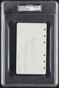 Autographs:Index Cards, 1929 Lefty Grove Signed Album Page, PSA/DNA Gem Mint 10 - World Series Championship Season....