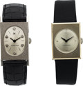 Timepieces:Wristwatch, Two Hamiltons, Lord Lancaster R and Nevin, 14K White Gold,...