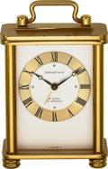 Timepieces:Clocks, Tiffany & Co. Choice 8 Day Small Alarm Clock, Fitted Box, circa 1960's. ...
