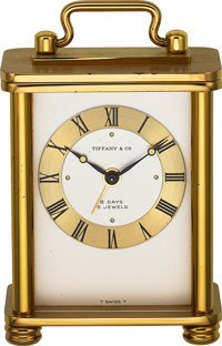 Tiffany & Co. Choice 8 Day Small Alarm Clock, Fitted Box, circa 1960's