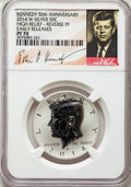 Four-Piece 2014 50C Kennedy Half Dollar 50th Anniversary Set, Silver, High Relief, Early Releases, NGC. The set is separ...