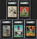 Baseball Cards:Lots, 1934-66 Baseball Greats SGC Graded Collection (5)....