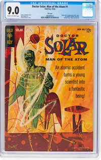 Doctor Solar, Man of the Atom #1 File Copy (Gold Key, 1962) CGC VF/NM 9.0 Cream to off-white pages