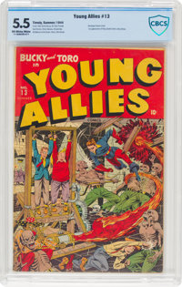 Young Allies Comics #13 (Timely, 1944) CBCS FN- 5.5 Off-white to white pages