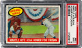 """Baseball Cards:Singles (1950-1959), 1959 Topps """"Mantle Hits 42nd Homer for Crown"""" #461 PSA Mint 9. ..."""