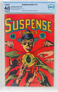 Golden Age (1938-1955):Crime, Suspense Comics #10 (Continental Magazines, 1945) CBCS Conserved VG 4.0 Off-white to white pages....