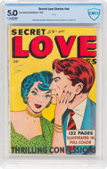 Golden Age (1938-1955):Romance, Fox Giants: Secret Love Stories #nn (Fox Features Syndicate, 1949)CBCS VG/FN 5.0 Light tan to off-white pages....