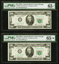 Small Size:Federal Reserve Notes, Fr. 2066-G $20 1963A Federal Reserve Notes. Two Examples. PMG Graded Gem Uncirculated 65 EPQ-65 EPQ*.. ... (Total: 2 notes)