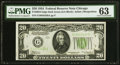 Small Size:Federal Reserve Notes, Fr. 2054-G $20 1934 Dark Green Seal Federal Reserve Note. PMGChoice Uncirculated 63.. ...