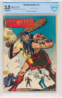 Red Seal Comics #18 (Chesler, 1946) CBCS GD+ 2.5 Off-white to white pages