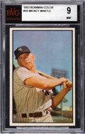Baseball Cards:Singles (1950-1959), 1953 Bowman Color Mickey Mantle #59 BVG Mint 9 - Pop Three, None Higher. ...