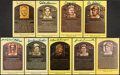 Autographs:Post Cards, Hall of Fame Signed Yellow Plaque Postcard Lot of 9....