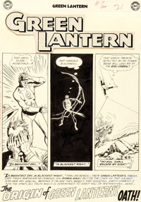 """Gil Kane and Murphy Anderson Green Lantern #10 Complete 10-Page Story """"The Origins of Green ... (Total: 10)"""