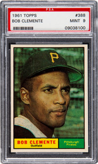 1961 Topps Bob Clemente #388 PSA Mint 9 - Only Two Higher