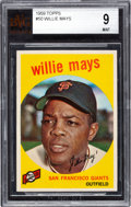 Baseball Cards:Singles (1950-1959), 1959 Topps Willie Mays #50 BVG Mint 9. Pack fresh ...