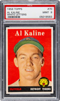 Baseball Cards:Singles (1950-1959), 1958 Topps Al Kaline (White Name) #70 PSA Mint 9. ...