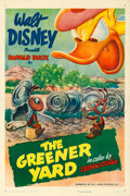 """Movie Posters:Animation, Donald Duck in The Greener Yard (RKO, 1949). Very Fine- on Linen. One Sheet (27.25"""" X 40.75"""").. ..."""