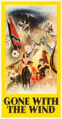 "Gone with the Wind (MGM, 1939). Fine/Very Fine on Linen. Three Sheet (41"" X 78.5"") Roadshow BP Style, Armando..."