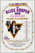 "Movie Posters:Rock and Roll, Alice Cooper: Welcome to My Nightmare (Key Pictures, 1975). Folded,Very Fine+. One Sheet (27"" X 41""). Rock and Roll...."