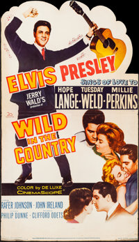 "Wild in the Country (20th Century Fox, 1961). Folded, Very Fine-. Die Cut Standee (32.5"" X 57""). Elvis Presley..."