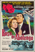 "Movie Posters:Drama, Mrs. Miniver (RAF, R-1940s). Folded, Fine/Very Fine. ArgentineanOne Sheet (29"" X 43""). Drama.. ..."