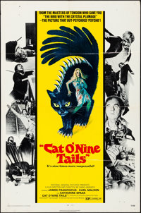 """Cat O' Nine Tails (National General, 1971). Folded, Very Fine-. One Sheet (27"""" X 41""""). Horror"""