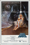 """Movie Posters:Science Fiction, Star Wars (20th Century Fox, 1977). Folded, Very Fine+. Second Printing One Sheet (27"""" X 41"""") Style A, Tom Jung Artwo..."""