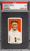 Baseball Cards:Singles (Pre-1930), 1909-11 T206 Old Mill Admiral Schlei (Portrait) PSA NM 7 - Pop Two, None Higher for Brand. ...