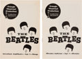 Music Memorabilia:Memorabilia, The Beatles Rare First U.S. Tour Programs: Milwaukee and Chicago (US, 1964).. ...