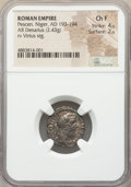 Ancients:Roman Imperial, Ancients: Pescennius Niger (AD 193-194). AR denarius (18mm, 2.43gm, 12h). NGC Choice Fine 4/5 - 2/5....