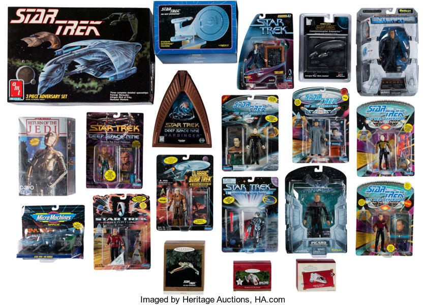 Star Trek Multiple Series Group of Dan Curry Owned Toys and
