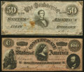 Confederate Notes:1864 Issues, Two Confederate 1864 Counterfeits.. ... (Total: 2 notes)