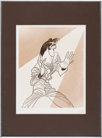 Elvis Presley Limited Edition Drawing Signed By Artist Al Hirschfeld (1968)