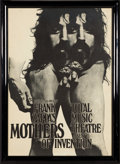 Music Memorabilia:Posters, Frank Zappa & Mothers of Invention German Tour Poster (GüntherKieser, 1970). . ...