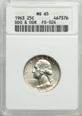 1963 25C Doubled Die Reverse & Obverse, FS-102, MS65 ANACS. (FS-024). CDN: $20 Whsle. Bid for problem-free NGC/PCGS...