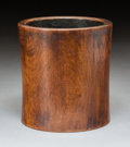 Carvings, A Chinese Huanghuali Brush Pot, Qing Dynasty. 6-1/4 x 5-7/8 x 5-7/8 inches (15.9 x 14.9 x 14.9 cm). ...