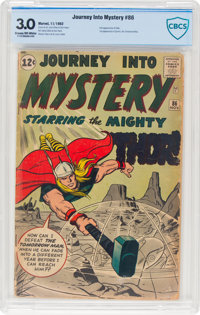 Journey Into Mystery #86 (Marvel, 1962) CBCS GD/VG 3.0 Cream to off-white pages