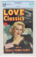 Golden Age (1938-1955):Romance, Love Classics #2 (Marvel, 1950) CBCS VG- 3.5 Slightly brittle pages....
