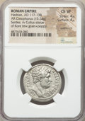 Ancients:Roman Imperial, Ancients: Hadrian (AD 117-138). AR cistophorus (26mm, 10.24 gm,7h). NGC Choice VF 4/5 - 4/5, overstruck....